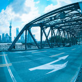 Old steel bridge in shanghai Stock Image