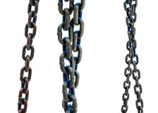 Old steel chain on white background Royalty Free Stock Image