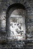 Old steel window in the ancient Chinese temple. Old steel closed window in the ancient Chinese temple Stock Images