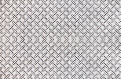 Old steel  diamond plate pattern background texture. Stock Image