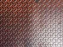 Old Steel Diamond Tread Royalty Free Stock Image