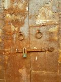 Old steel door. The colors and texture of old steel door Royalty Free Stock Photos