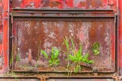Old steel door. Steel gate/old steel door/train hatch Stock Photos
