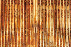Old steel door. Old iron door Used for the rust red. Filled up Royalty Free Stock Image