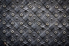 The old steel door. Ornament. Background Royalty Free Stock Photo