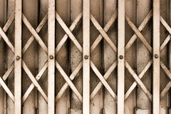 Old steel door. Outside the house Stock Photography