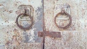 Old steel door. Textures of old classic steel door in songkhla old town thailand Stock Photography