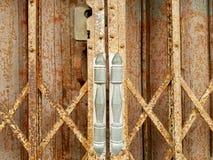 Old steel doors. Textures of old steel doors Royalty Free Stock Photo