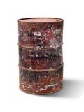Old steel drum Stock Photo