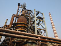 Old Steel Factory In China. Due to pollution, China's largest steel factory was abandoned stock photography