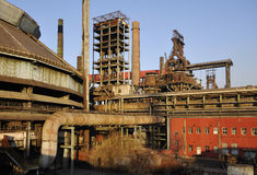Old Steel Factory. Due to pollution, China's largest steel factory was abandoned royalty free stock images