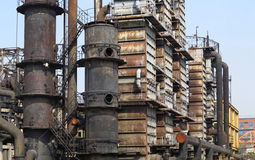 Old Steel  Factory. Due to pollution, China's largest steel  factory was abandoned Stock Images