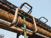 Old Steel  Factory Pipeline Stock Photo