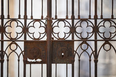 Old steel fence Stock Images