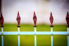 Old steel fence Royalty Free Stock Photos