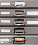 Old steel filing cabinet Royalty Free Stock Photo