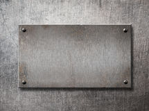 Old steel frame on metal wall background 3d illustration Royalty Free Stock Photography