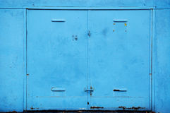 Old steel garage door Royalty Free Stock Photography