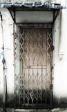 Old Steel Gate. Only available in old shop house Malaysia Royalty Free Stock Image