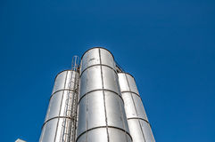 Old Steel industrial tanks Royalty Free Stock Image