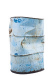 Old Steel Oil barrel Royalty Free Stock Images