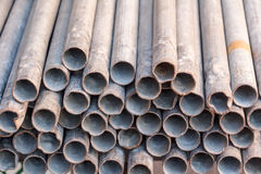 Old steel pipes Stock Images