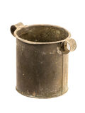 Old steel pot isolated Royalty Free Stock Images