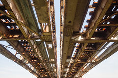 Old Steel Railway Bridge Engineering Royalty Free Stock Photos