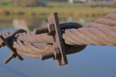Old steel rope Royalty Free Stock Images
