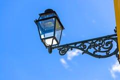 Old steel street lamp. Lisbon Portugal Royalty Free Stock Photos