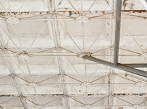 Old Steel structure. Old Steel structure of big steel roof Stock Image