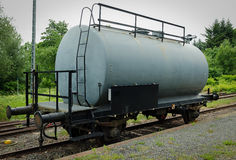 Old steel tank car Stock Image