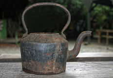 Old steel teapot Stock Photo