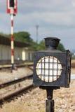 Old Steel Train Sign Lantern. Stock Image