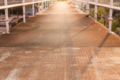Old steel walkway Royalty Free Stock Image