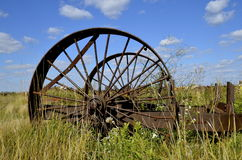 Old Steel wheels of machinery Royalty Free Stock Photos