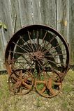 Old steel wheels Stock Photography