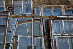 Old steel windows Stock Image