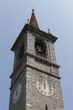 Old steeple of the church Stock Images