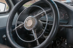 Old steering whee. Steering wheel of an old car Royalty Free Stock Images