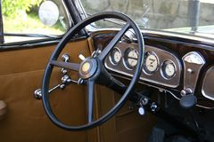 Old steering wheel Stock Image