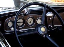 Old steering wheel. Steering wheel of old car stock photos
