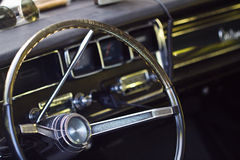 Old steering wheel Royalty Free Stock Photos