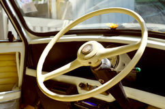 Old steering wheel Stock Photo
