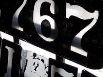 Old Stencils. Numbering stencils for antique narrow gauge train royalty free stock photography