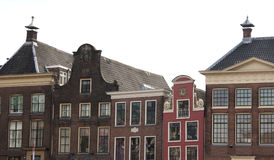 Old step gable roofs in Groningen, the Netherlands stock photography