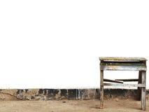 Old stepladder Stock Photo