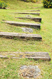 Old stepping wood Royalty Free Stock Photography