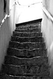 Old steps. Black and white photo of old steps Royalty Free Stock Images