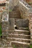 Old steps. With a stile to stop large animal stock photography